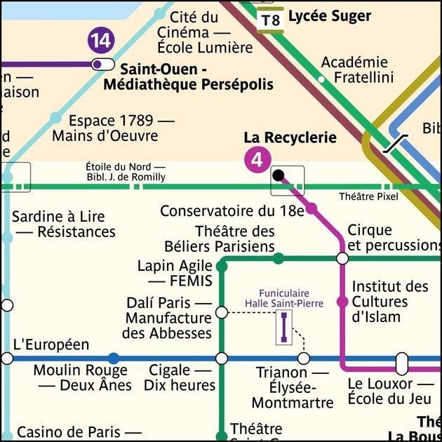 Sur la ligne 2, Anvers, Pigalle et Blanche prennent le nom de théâtres et salles de