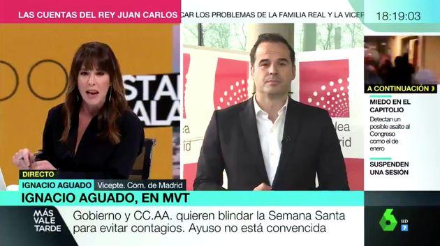 Mamen Mendizábal e Ignacio Aguado en 'Más Vale Tarde'