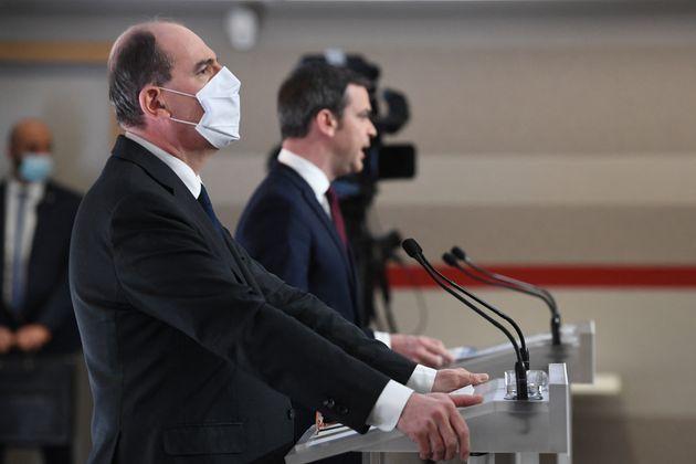 Jean Castex, Premier ministre et Olivier Véran, ministre de la Santé, le 4 mars