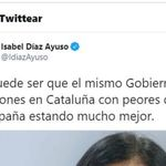 A Díaz Ayuso le llueven las críticas por este tuit: