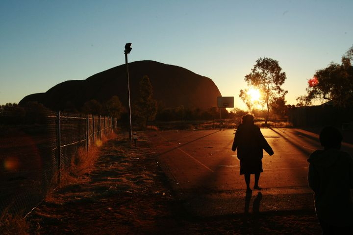 The Aboriginal community of Mutitjulu, in the shadow of Uluru, where the AstraZeneca vaccine will be available at the Mutitjulu Health Service.
