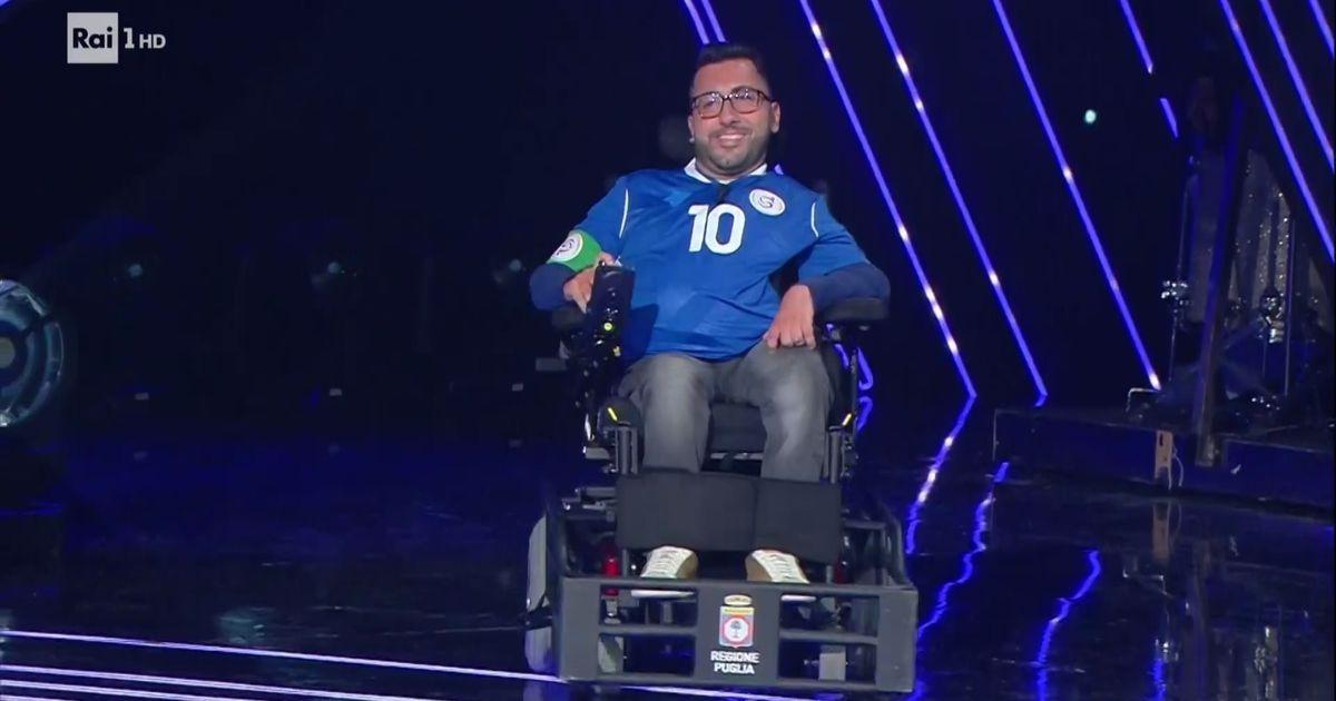 Donato Grande porta all'Ariston la voce degli atleti paralimpici