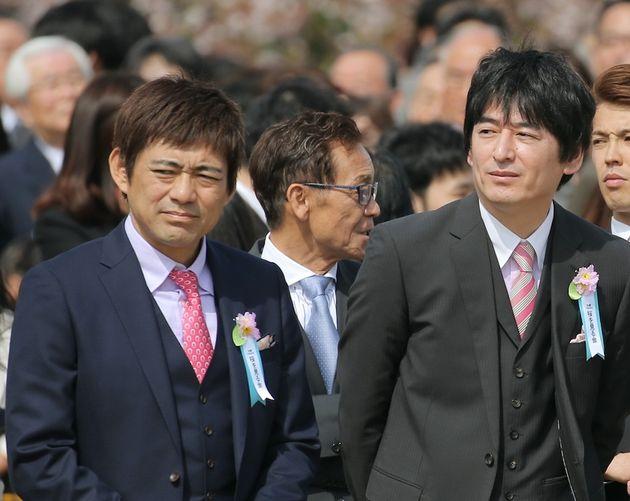 博多華丸さん(左)、博多大吉さん(右)
