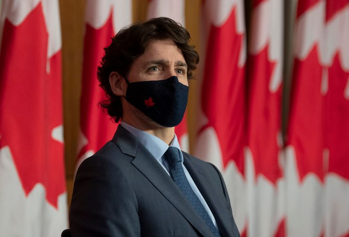 Prime Minister Justin Trudeau listens during a news conference in Ottawa on Wednesday.