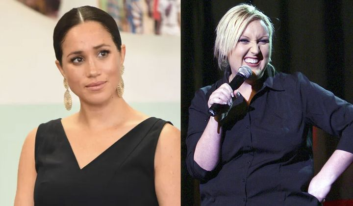 """Meshel Laurie has been called out for labelling Meghan Markle a """"succubus""""."""