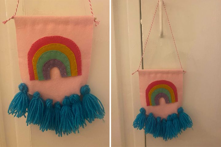Becky's homemade rainbow banner