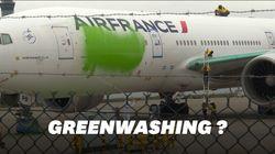 Greenpeace repeint un avion en vert et ça n'a pas plu au ministre des