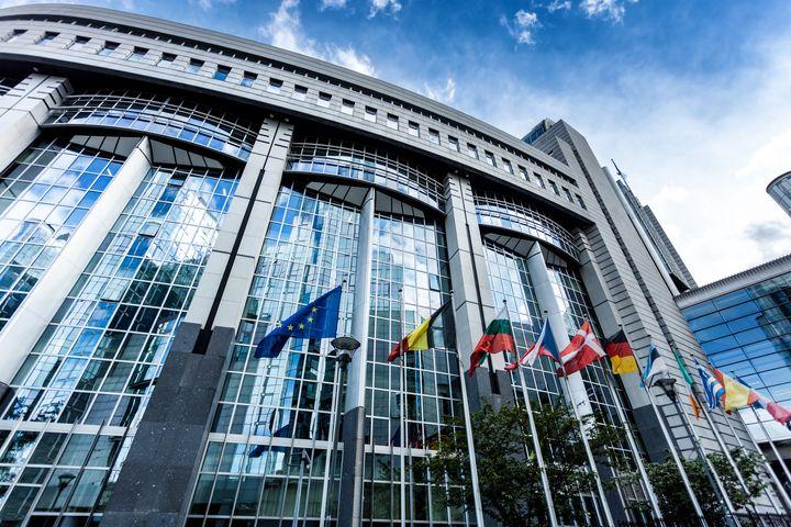 The European Union parliament in Brussels, Belgium.