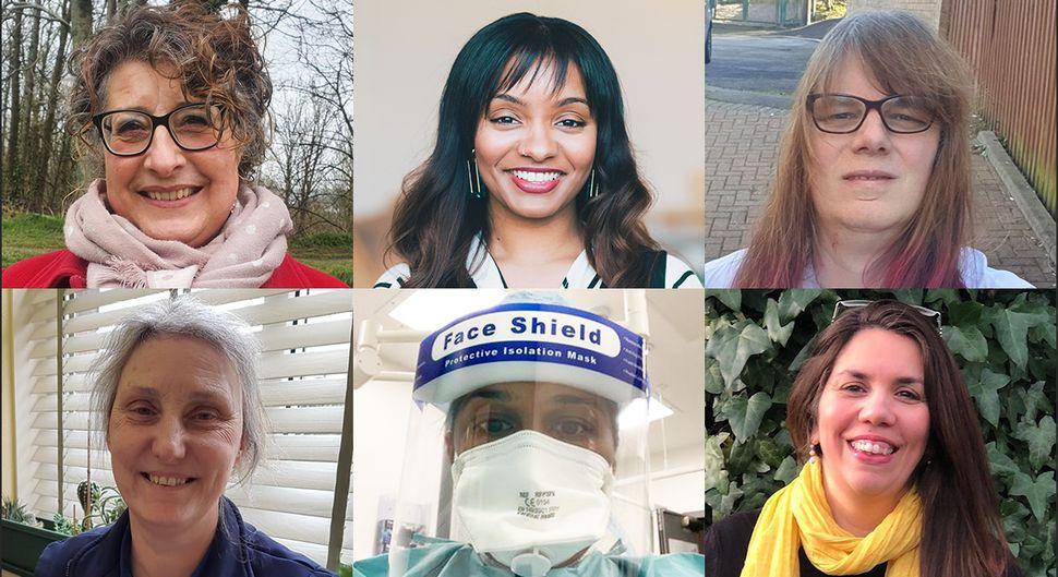 Thank you to the women who spoke to HuffPost: (clockwise from top left): Carmen De Pablo,Amahra Spence, Monica Sulley,Nisreen Alwan,Shumonta Quaderi and Deborah Stevens, as well as Professor Shani Orgad.