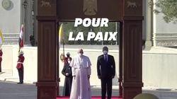 Les images de la visite historique du pape François en
