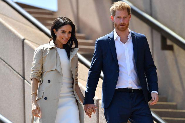 Meghan Markle et le prince Harry en octobre 2018 à