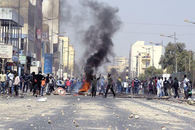 Tensions à Dakar le 5 mars 2021, après l'arrestation d'Ousmane