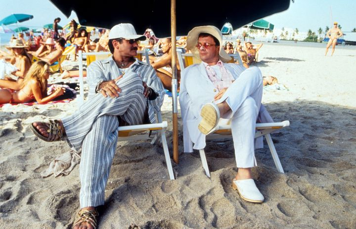 "Robin Williams and Nathan Lane in ""The Birdcage."""