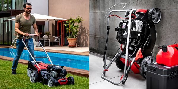 """Sure, Dad loves his lawnmower -- until it's time to put it back into the crowded garage. <a href=""""https://www.briggsandstratt"""