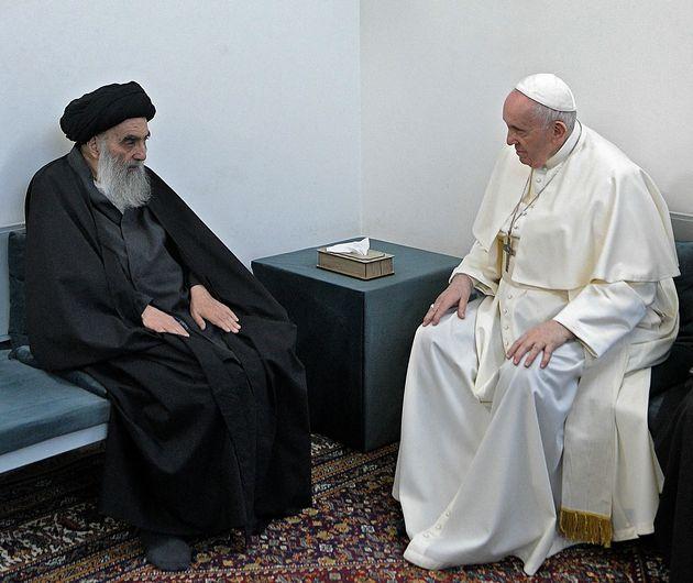 Le grand ayatollah Ali Sistani, plus haute autorité religieuse pour la plupart des musulmans chiites...
