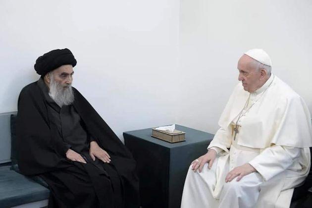 El papa Francisco con el ayatolá Ali