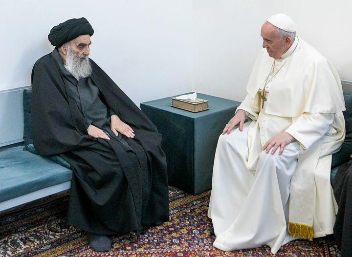 Pope Francis meets Grand Ayatollah Ali al-Sistani