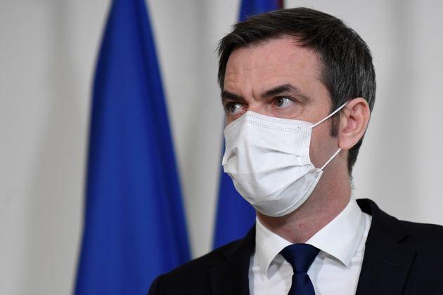 Olivier Véran lors d'une conférence de presse le 26 janvier