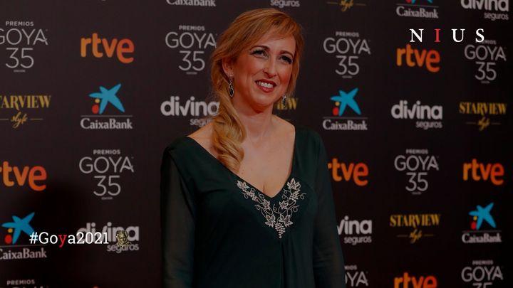 Ana María Ruiz, la enfermera encargada de entregar el Goya a la Mejor película.