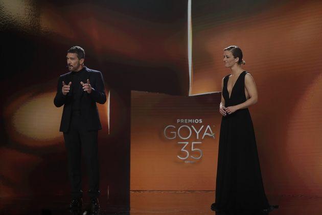 María Casado y Antonio Banderas en la gala de los