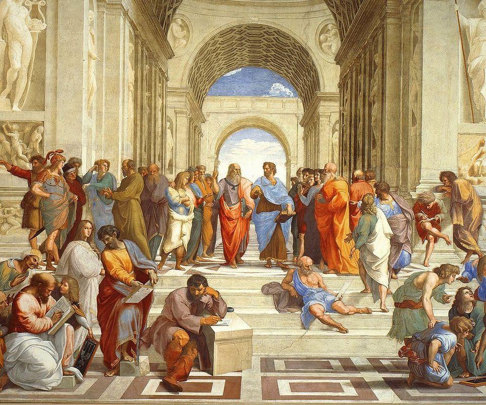 Η Σχολή των Αθηνών (1511), νωπογραφία του