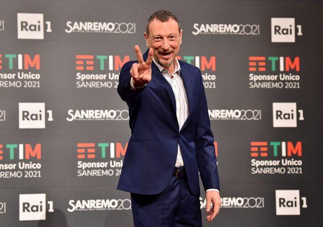 """Amadeus: """"Con Sanremo 2021 un passaggio epocale. Non auguro a nessuno un teatro vuoto"""""""