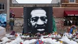 A mural of George Floyd at the intersection of 38th Street and Chicago Avenue S. in Minneapolis, United States, on January 18, 2021. (Photo by Tim Evans/NurPhoto via Getty Images)