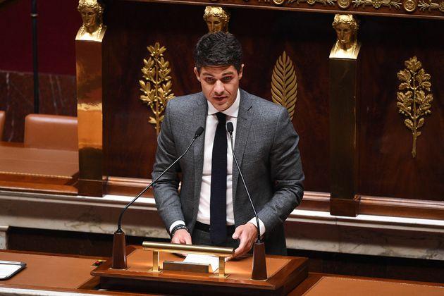 Aurélien Pradié, ici à l'Assemblée nationale le 28 avril