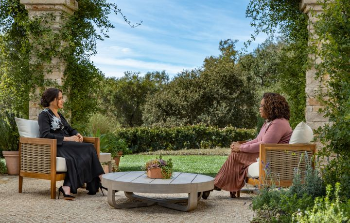 Meghan Markle with Oprah Winfrey.