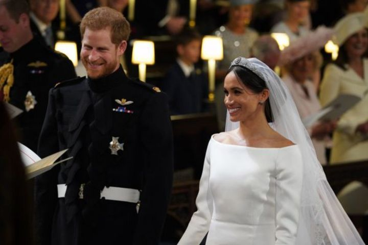Harry andMeghan's royal wedding was at St. George's Chapel at Windsor Castle. Meghan revealed that the couple had