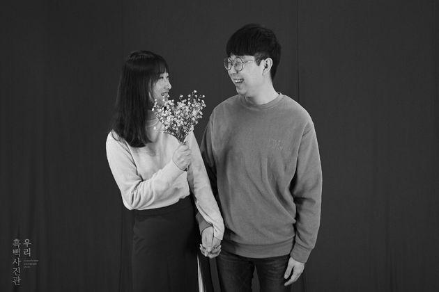 유튜버 '너구리부부'로 활동하고 있는 김나래·홍영돈씨 부부.유튜브 방송 중 동거 경험을 밝힌 바