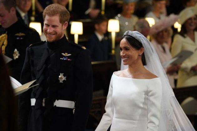 2018年5月19日にセント・ジョージ礼拝堂で開かれた、結婚式