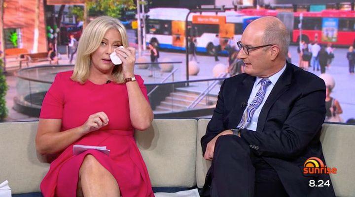 Samantha Armytage and 'Sunrise' co-host David 'Kochie' Koch on Monday