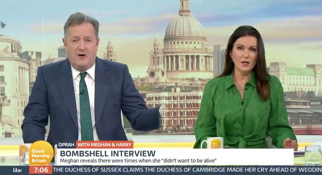 Piers Morgan's Lack Of Sympathy Towards Meghan Markle Called Out By Susanna Reid