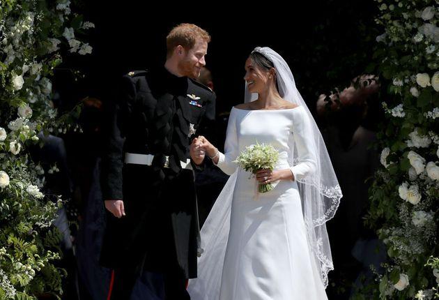 Μέγκαν Μαρκλ και Χάρι στον γάμο