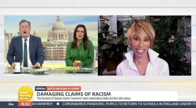 Trisha Goddard Shuts Down Piers Morgan During Discussion About Racism Towards Meghan Markle