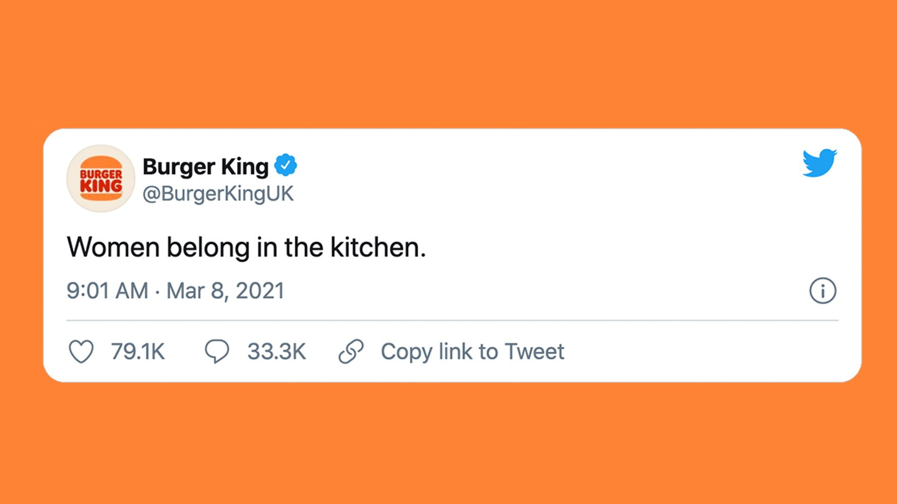 Burger King Says Women Belong In The Kitchen And People Are Not Impressed News Dome