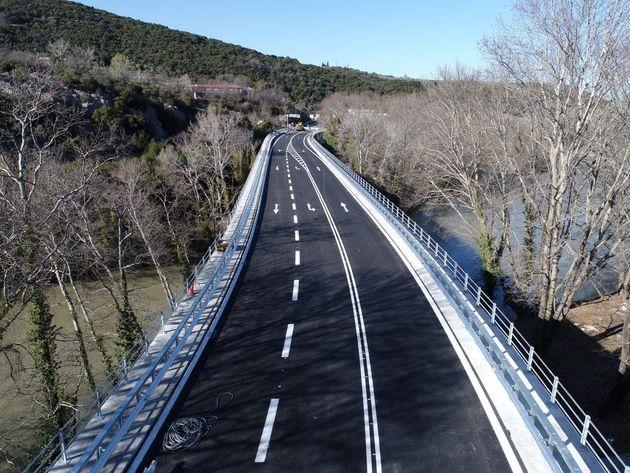 Σε κυκλοφορία η γέφυρα Πηνειού στα