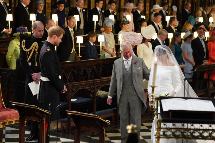 Prince Charles walked Meghan Markle down the aisle at her 2018 wedding to Prince Harry.