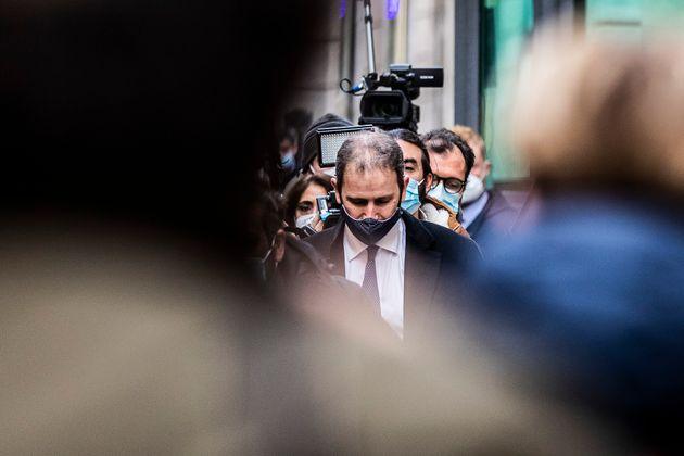 06/02/2021 Roma, Arrivi alla Camera dei Deputati per le consultazioni con il presidente del Consiglio...