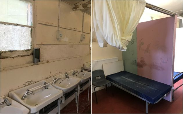 Handout photo issued by ICIBI and HMIP showing a sleeping area in Napier Barracks in
