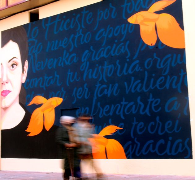 Un grafiti del que es autora la artista jienense Mercedes Debellard recordará desde este lunes...