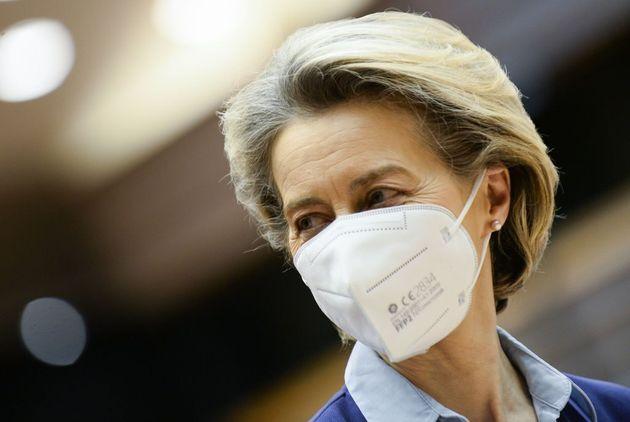 Ursula von Der Leyen, el pasado febrero, en la sede del Europarlamento de