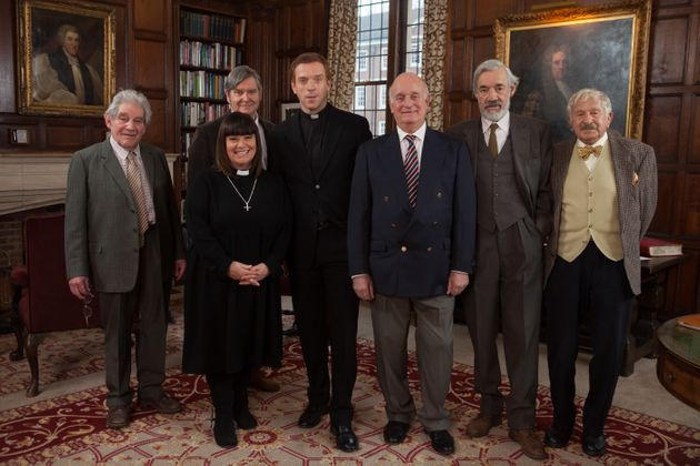 Trevor pictured with the cast of The Vicar Of Dibley (and special guest Damian Lewis) in