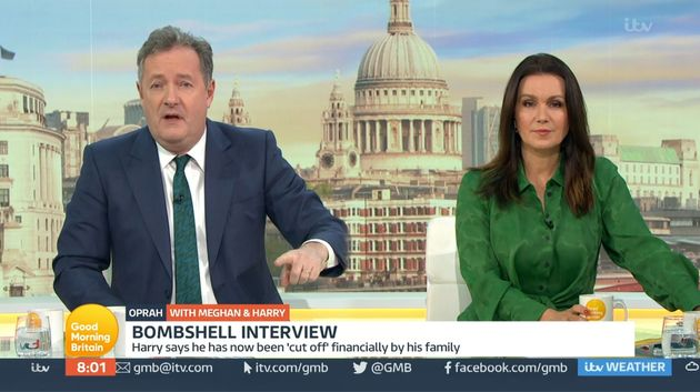 Piers Morgan on what would prove to be his penultimate episode of Good Morning Britain in March with...
