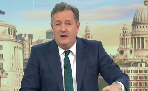 Piers Morgan on what would prove to be his penultimate episode of Good Morning