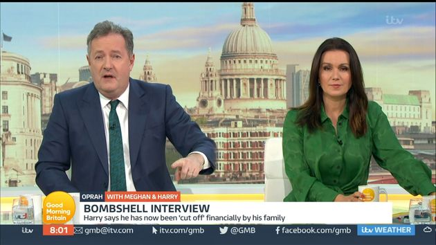 Piers Morgan on his penultimate episode of Good Morning Britain in