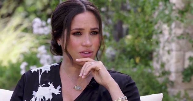 Meghan Markle during her interview with Opra