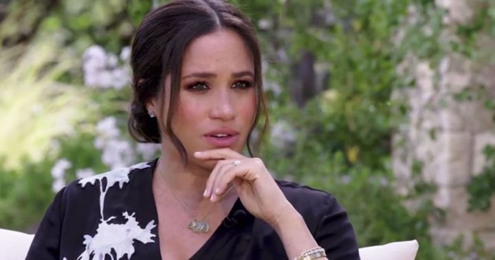 Meghan Markle during her interview with Opra Winfrey.