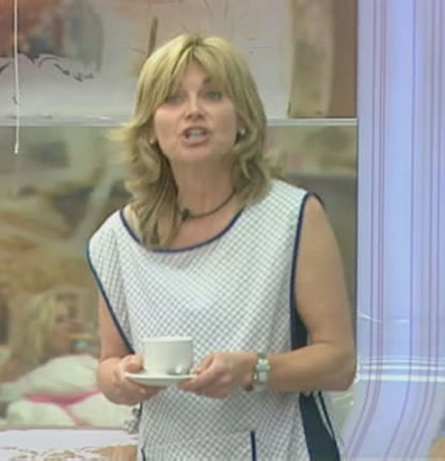Anthea Turner in the Big Brother house in